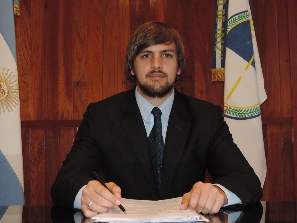 Director Provincial de Asuntos Jurídicos del Ministerio de Desarrollo Económico y Producción, Exequiel Lello Ivacevich.